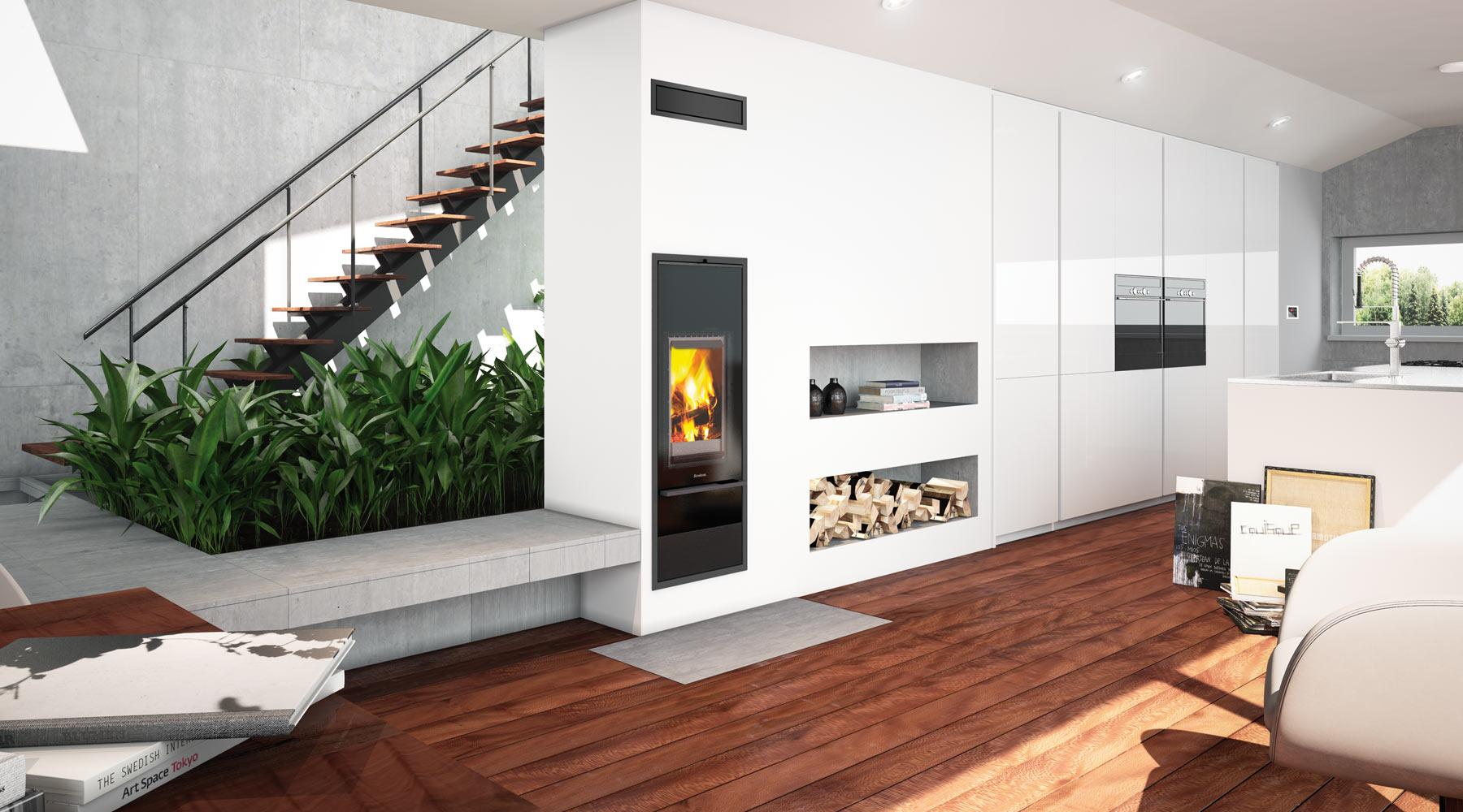 Kingfire Lineare: designová kamna