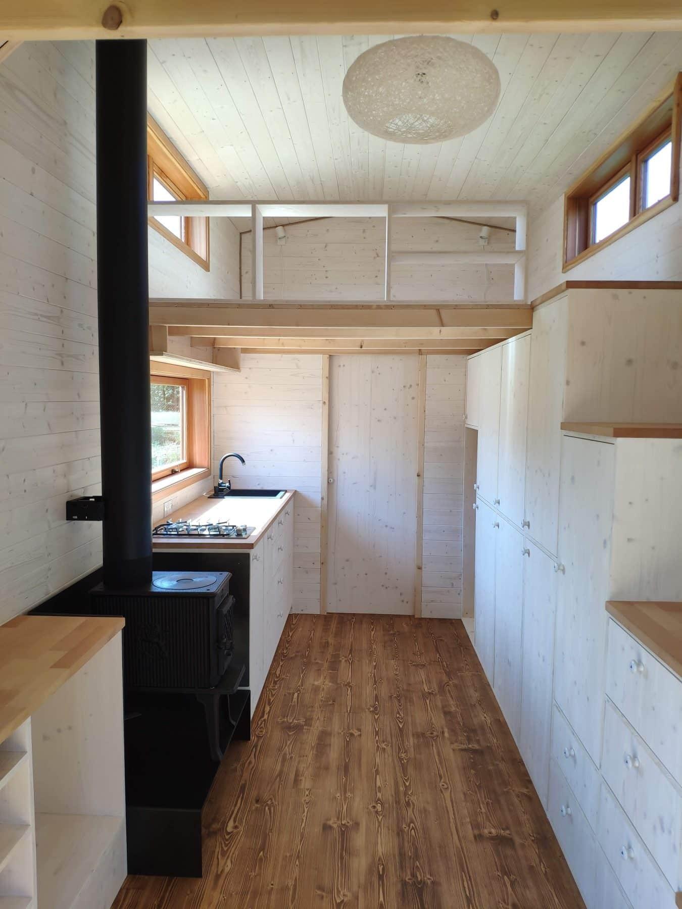 Interiér Tiny home.