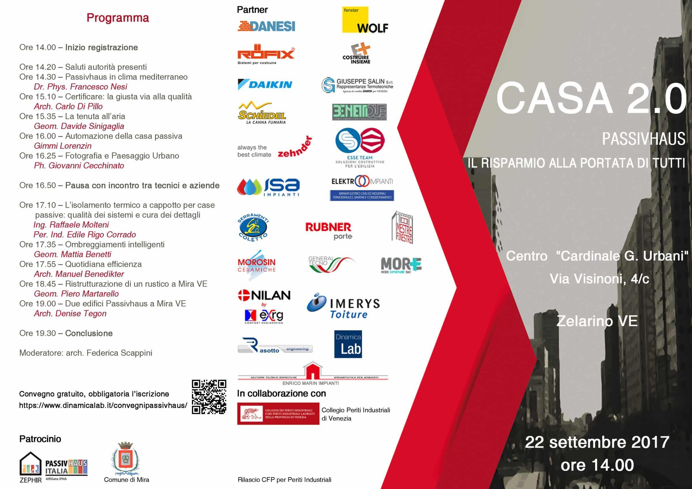 """<span class=""""entry-title-primary"""">Convegno CASA 2.0 Passivhaus – Il Risparmio a portata a tutti</span> <span class=""""entry-subtitle"""">22 Settembre 2017 ore 14.00 a Zelarino (VE) con l'Arch. Denise Tegon e il patrocinio di Zephir Passivhaus Italia</span>"""