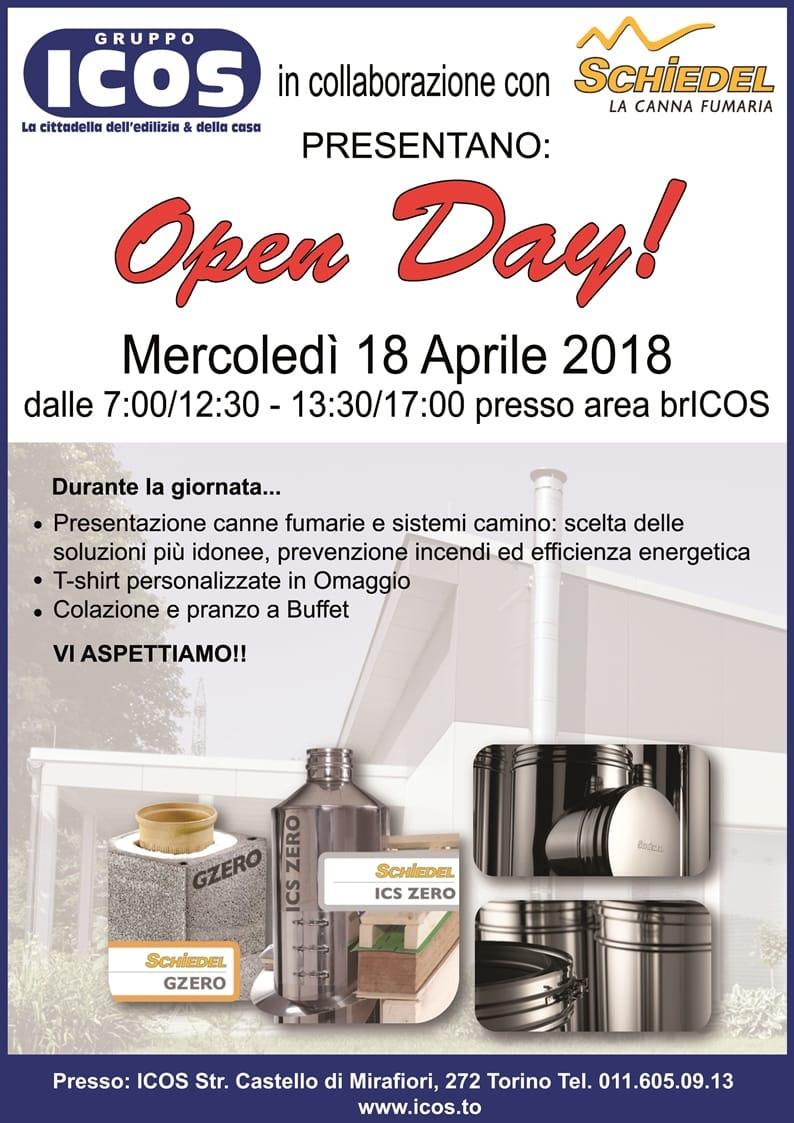 "<span class=""entry-title-primary"">Open Day Canne Fumarie Schiedel Srl con Gruppo ICOS – Torino</span> <span class=""entry-subtitle"">18/04/18 ore 07.00-17.00 presso Gruppo ICOS Torino </span>"