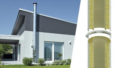 Plieninių dūmtraukių sistemos