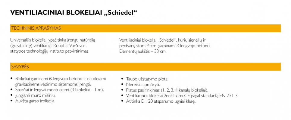 Ventiliaciniai blokeliai Schiedel