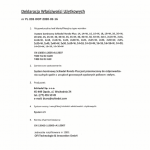 Deklaracja Właściwości Użytkowych Rondo Plus +2W