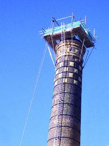 Newcastle University Chimney relining in progress