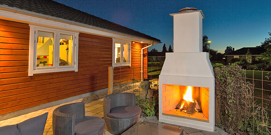 Outdoor Living With The Schiedel Isokern Garden Fireplace