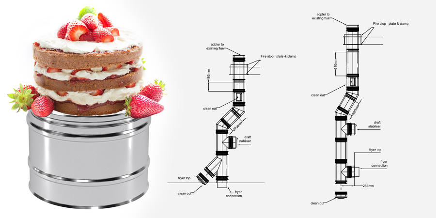 Chimney Flue for Hayden's Bakery Cakes and CAD drawings!