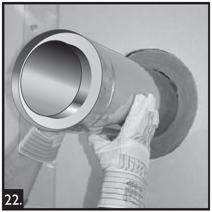 """Midtherm Guy Fil Support Pour Costume Flue pipe 8/"""" 200 mm"""
