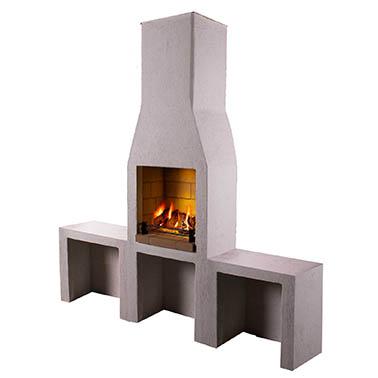 Outdoor Fireplace Barbecue – The Schiedel Isokern Garden Fireplace