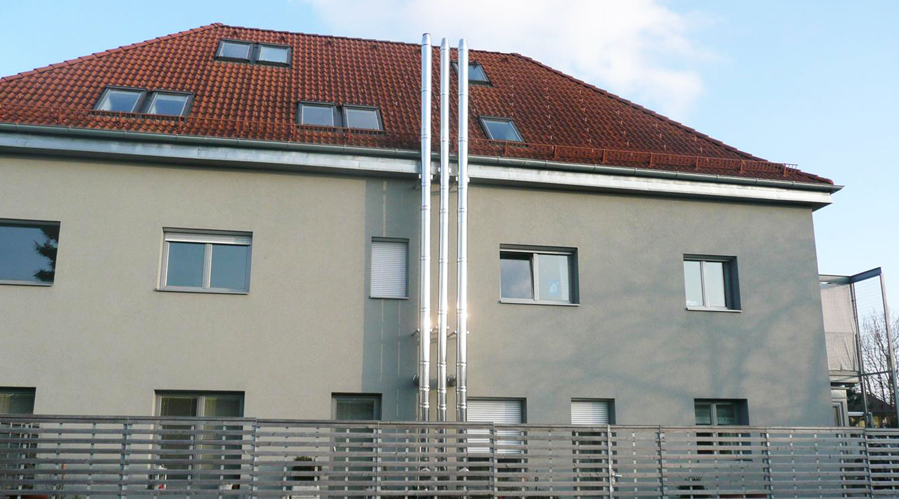 Edelstahlschornstein ICS
