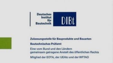deutsches institut bautechnik zulassung