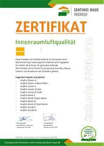 Sentinel Haus Institut Zertifikat